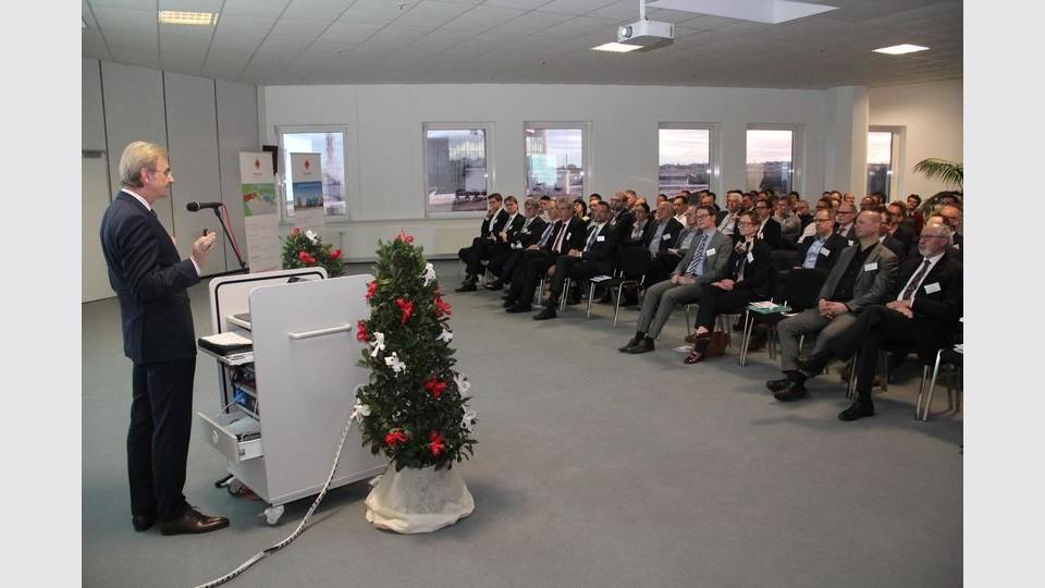 Norbert Gruber beim 4. Ehinger Wirtschaftsforum im BED Businesspark